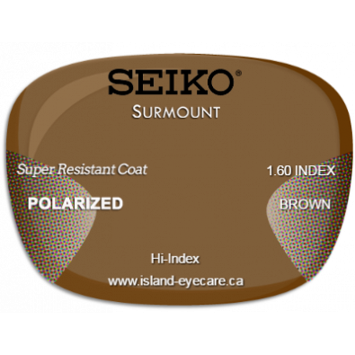 Seiko Surmount 1.60 Super Resistant Coat Seiko Polarized - Brown