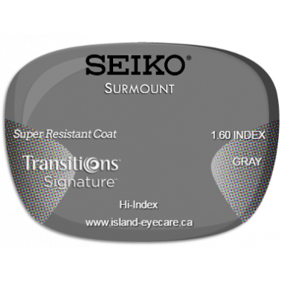 Seiko Surmount 1.60 Super Resistant Coat Transitions Signature - Gray