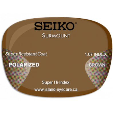 Seiko Surmount 1.67 Super Resistant Coat Seiko Polarized - Brown