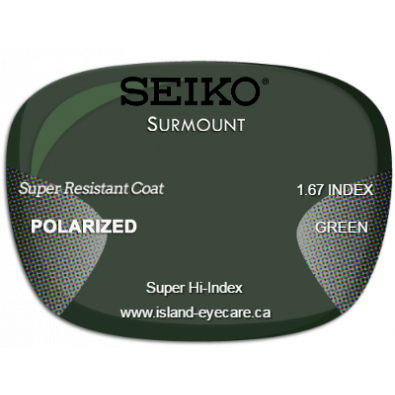 Seiko Surmount 1.67 Super Resistant Coat Seiko Polarized - Green