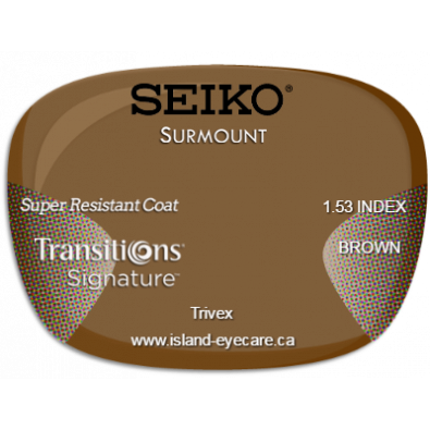 Seiko Surmount Trivex Super Resistant Coat Transitions Signature - Brown