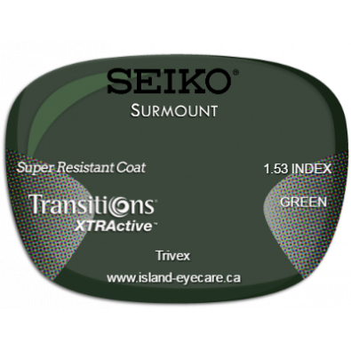 Seiko Surmount Trivex Super Resistant Coat Transitions XTRActive - Green
