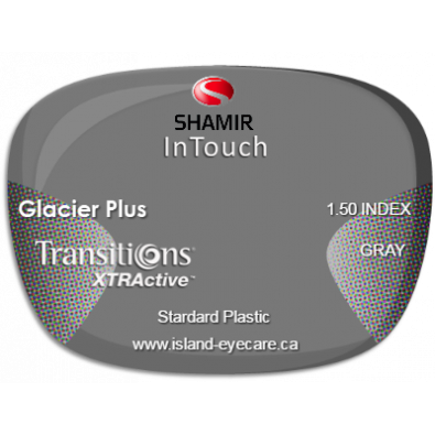Shamir InTouch 1.50 Glacier Plus Transitions XTRActive - Gray
