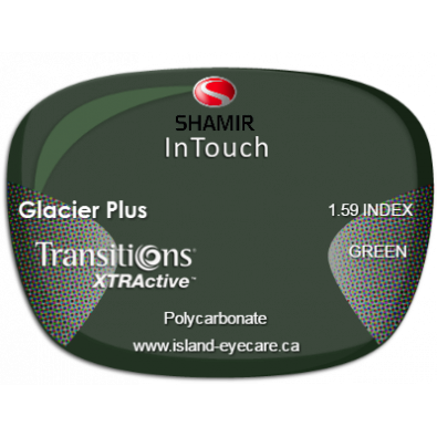 Shamir InTouch 1.59 Glacier Plus Transitions XTRActive - Green