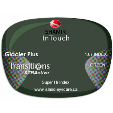 Shamir InTouch 1.67 Glacier Plus Transitions XTRActive - Green