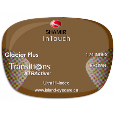 Shamir InTouch 1.74 Glacier Plus Transitions XTRActive - Brown