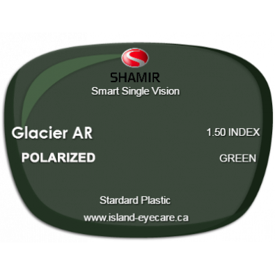 Shamir Smart Single Vision 1.50 Glacier AR Shamir Polarized - Green