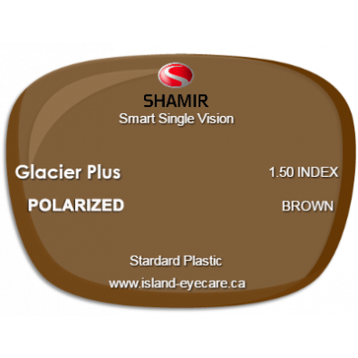 Shamir Smart Single Vision 1.50 Glacier Plus Shamir Polarized - Brown