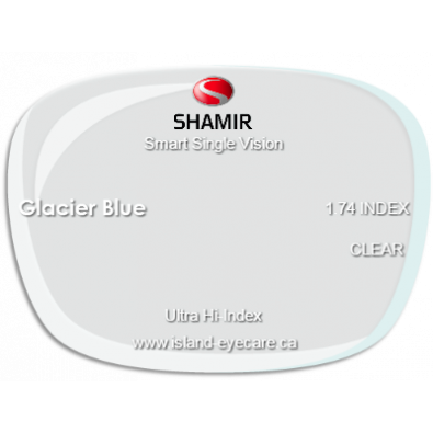 Shamir Smart Single Vision 1.74 Glacier Blue