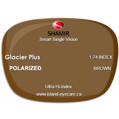 Shamir Smart Single Vision 1.74 Glacier Plus Shamir Polarized - Brown