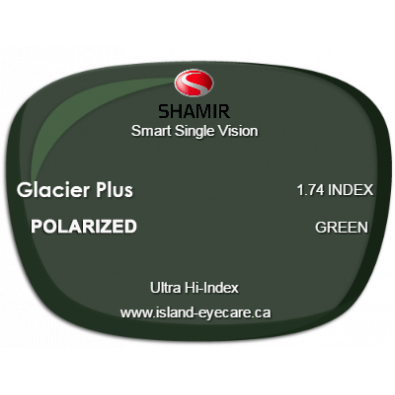 Shamir Smart Single Vision 1.74 Glacier Plus Shamir Polarized - Green