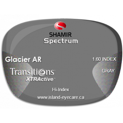 Shamir Spectrum 1.60 Glacier AR Transitions XTRActive - Gray