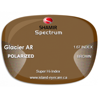 Shamir Spectrum 1.67 Glacier AR Shamir Polarized - Brown