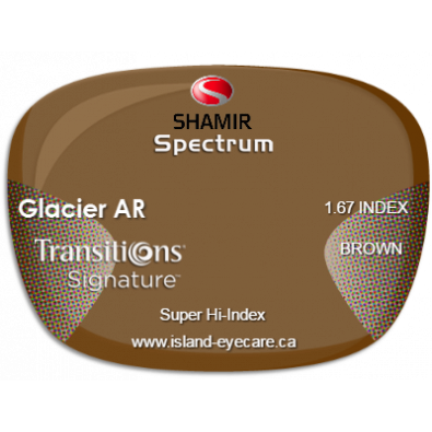 Shamir Spectrum 1.67 Glacier AR Transitions Signature - Brown