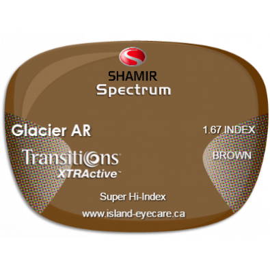 Shamir Spectrum 1.67 Glacier AR Transitions XTRActive - Brown