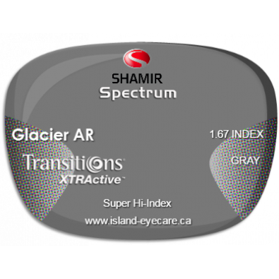 Shamir Spectrum 1.67 Glacier AR Transitions XTRActive - Gray