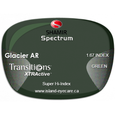 Shamir Spectrum 1.67 Glacier AR Transitions XTRActive - Green