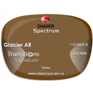 Shamir Spectrum Trivex Glacier AR Transitions Signature - Brown