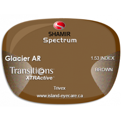 Shamir Spectrum Trivex Glacier AR Transitions XTRActive - Brown
