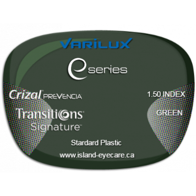 Varilux E Fit 1.50 Crizal Prevencia Transitions Signature - Green