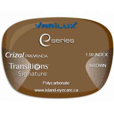 Varilux E Fit 1.59 Crizal Prevencia Transitions Signature - Brown