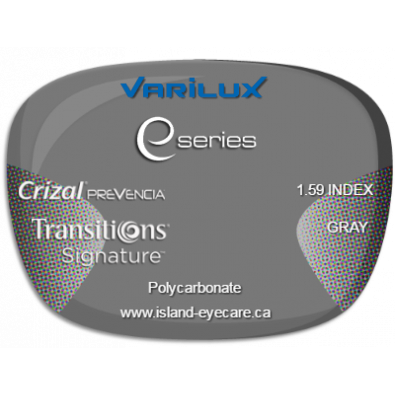 Varilux E Fit 1.59 Crizal Prevencia Transitions Signature - Gray