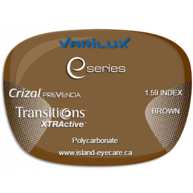 Varilux E Fit 1.59 Crizal Prevencia Transitions XTRActive - Brown
