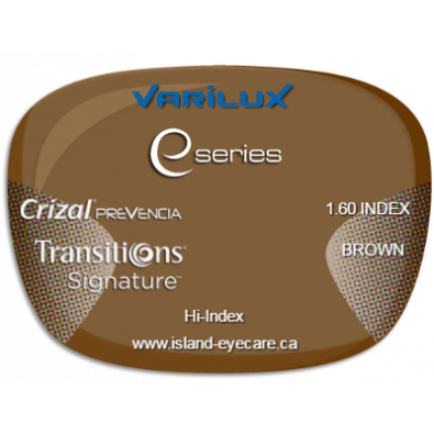 Varilux E Fit 1.60 Crizal Prevencia Transitions Signature - Brown