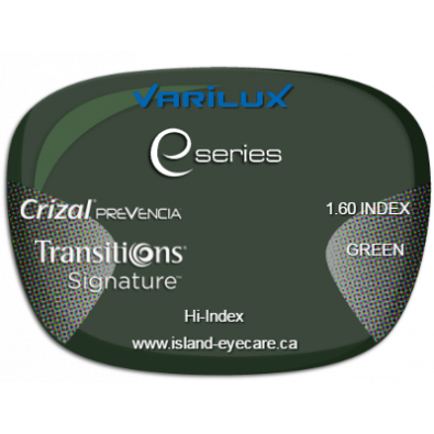 Varilux E Fit 1.60 Crizal Prevencia Transitions Signature - Green