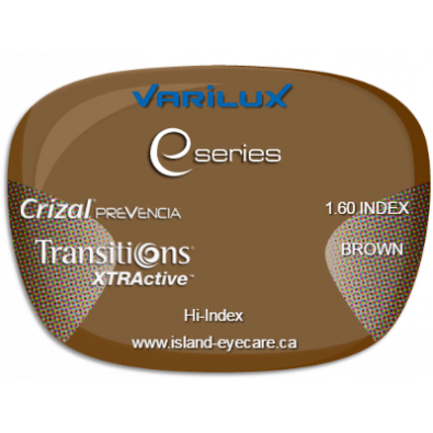 Varilux E Fit 1.60 Crizal Prevencia Transitions XTRActive - Brown