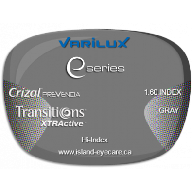 Varilux E Fit 1.60 Crizal Prevencia Transitions XTRActive - Gray