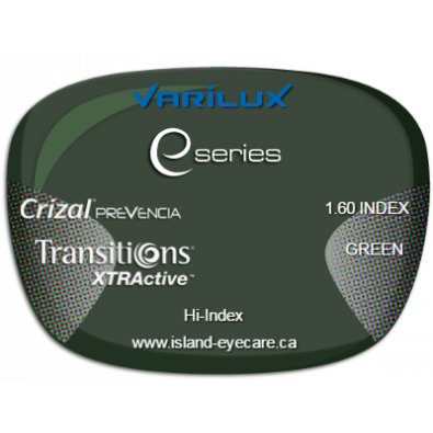 Varilux E Fit 1.60 Crizal Prevencia Transitions XTRActive - Green