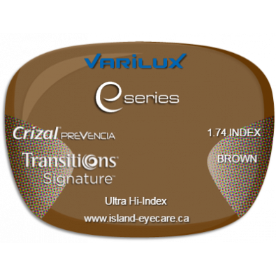 Varilux E Fit 1.74 Crizal Prevencia Transitions Signature - Brown