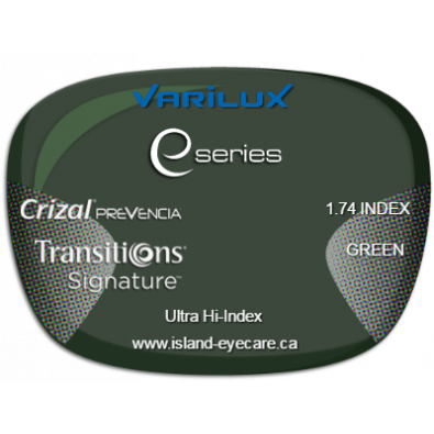 Varilux E Fit 1.74 Crizal Prevencia Transitions Signature - Green
