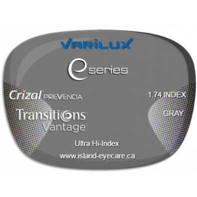 Varilux E Fit 1.74 Crizal Prevencia Transitions Vantage - Gray