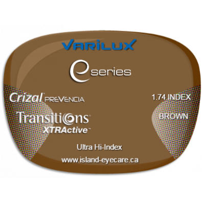 Varilux E Fit 1.74 Crizal Prevencia Transitions XTRActive - Brown