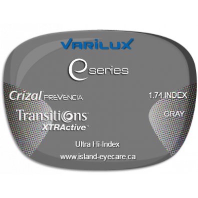 Varilux E Fit 1.74 Crizal Prevencia Transitions XTRActive - Gray