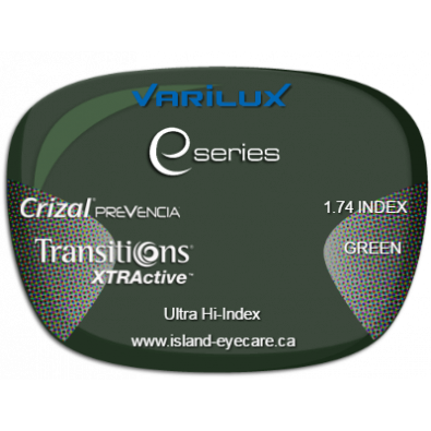 Varilux E Fit 1.74 Crizal Prevencia Transitions XTRActive - Green