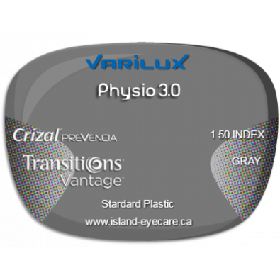 Varilux Physio 3.0 1.50 Crizal Prevencia Transitions Vantage - Gray