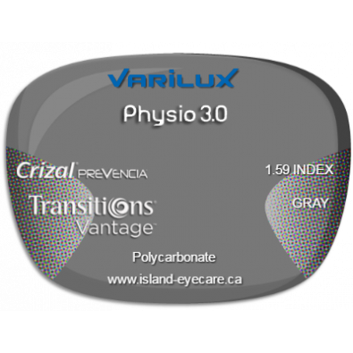 Varilux Physio 3.0 1.59 Crizal Prevencia Transitions Vantage - Gray