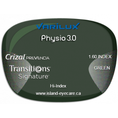 Varilux Physio 3.0 1.60 Crizal Prevencia Transitions Signature - Green