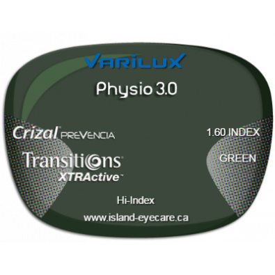 Varilux Physio 3.0 1.60 Crizal Prevencia Transitions XTRActive - Green