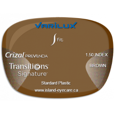 Varilux S Fit 1.50 Crizal Prevencia Transitions Signature - Brown