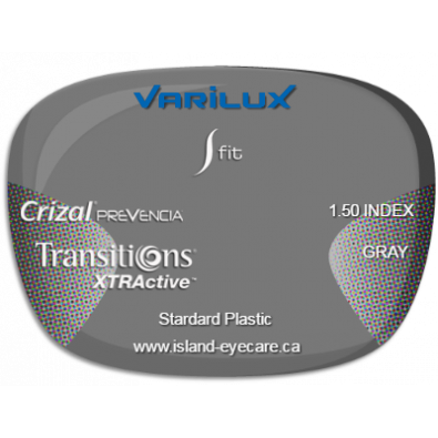 Varilux S Fit 1.50 Crizal Prevencia Transitions XTRActive - Gray