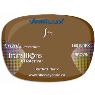 Varilux S Fit 1.50 Crizal Sapphire UV Transitions XTRActive - Brown