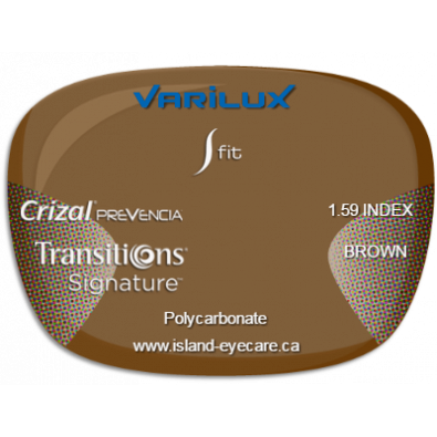 Varilux S Fit 1.59 Crizal Prevencia Transitions Signature - Brown