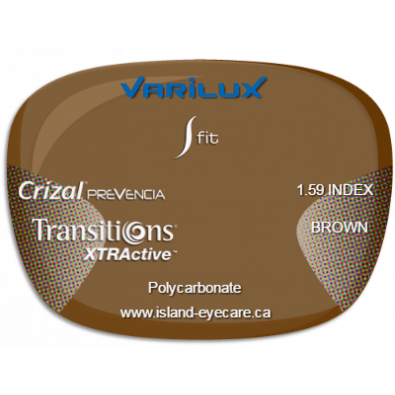 Varilux S Fit 1.59 Crizal Prevencia Transitions XTRActive - Brown