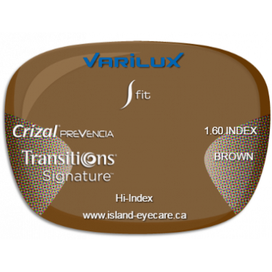 Varilux S Fit 1.60 Crizal Prevencia Transitions Signature - Brown