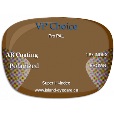 VP Choice Pro PAL 1.67 AR Coating Polarized - Brown