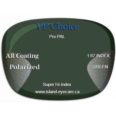 VP Choice Pro PAL 1.67 AR Coating Polarized - Green